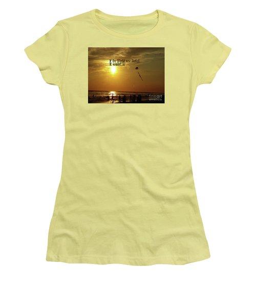 Perfect World Women's T-Shirt (Junior Cut) by Gary Wonning