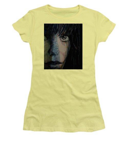 Women's T-Shirt (Junior Cut) featuring the painting Periode Bleue by Paul Lovering