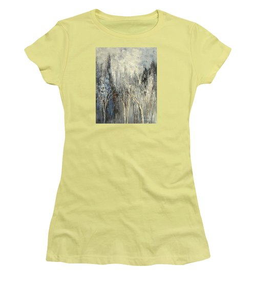 Women's T-Shirt (Junior Cut) featuring the painting Phantom Glory by Tatiana Iliina