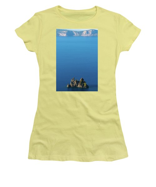 Phantom Ship Island Crater Lake National Park Oregon 2 Women's T-Shirt (Athletic Fit)