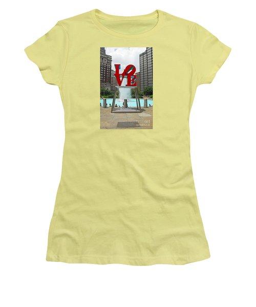 Philadelphia's Love Park Women's T-Shirt (Junior Cut) by Cindy Manero