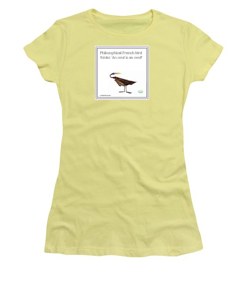 Philosophical Bird Women's T-Shirt (Athletic Fit)