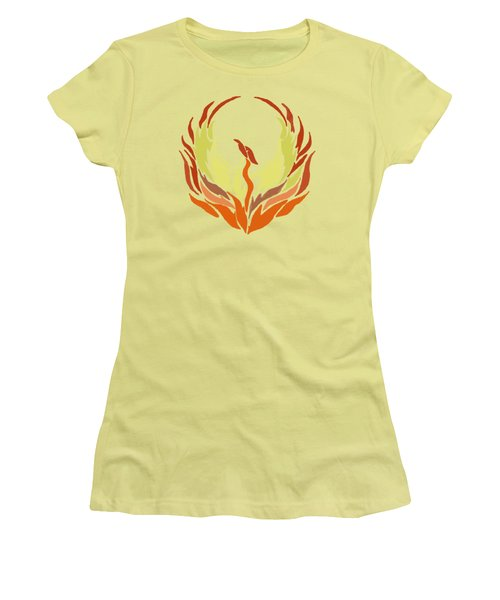 Phoenix Bird Women's T-Shirt (Junior Cut) by Priscilla Wolfe
