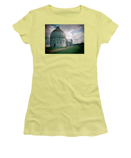Women's T-Shirt (Junior Cut) featuring the photograph Piazza In Piza by Christin Brodie