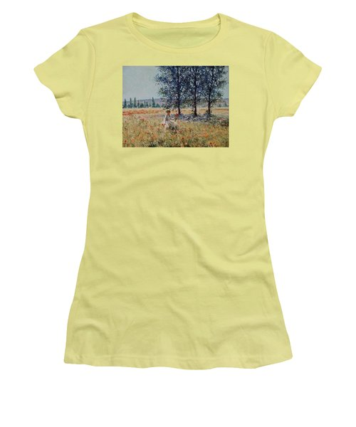 Picking Flowers  Women's T-Shirt (Athletic Fit)