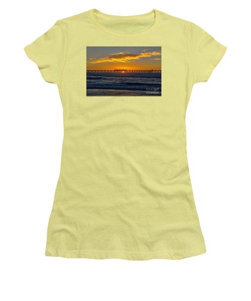 Pier Cafe Women's T-Shirt (Athletic Fit)