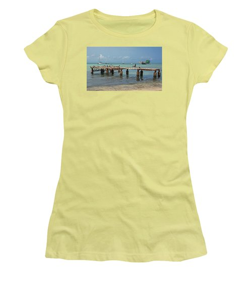 Pier For Birds Women's T-Shirt (Athletic Fit)