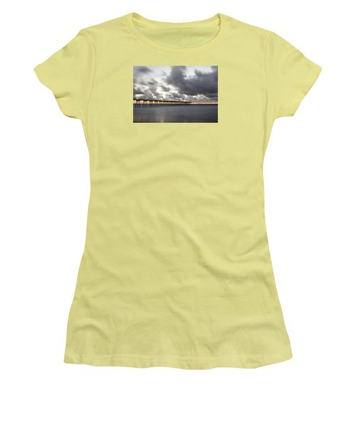 Pier In Misty Waters Women's T-Shirt (Athletic Fit)