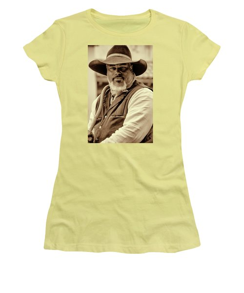 Piercing Eyes Of The Cowboy Women's T-Shirt (Athletic Fit)