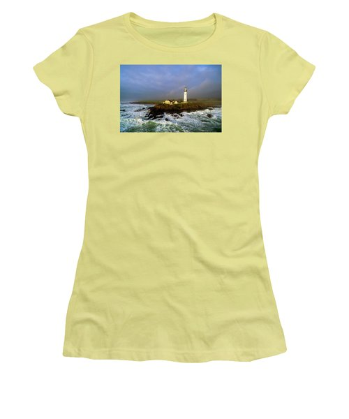 Pigeon Point Lighthouse Women's T-Shirt (Junior Cut) by Evgeny Vasenev
