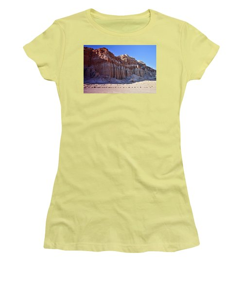Pillars, Red Rock Canyon State Park Women's T-Shirt (Junior Cut) by Michael Courtney