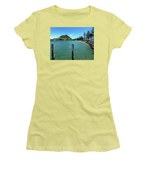 Pilot Bay Beach 1 - Mt Maunganui Tauranga New Zealand Women's T-Shirt (Junior Cut) by Selena Boron