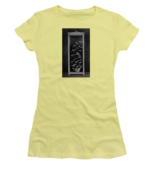 Pine Cone In A Box Still Life Women's T-Shirt (Athletic Fit)