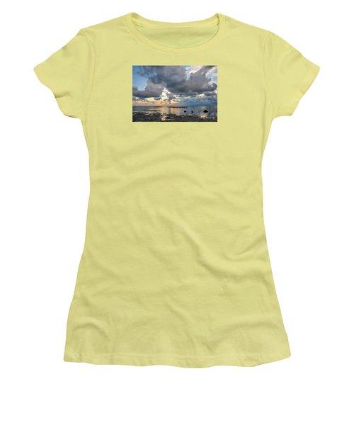 Pine Island Sunset Women's T-Shirt (Junior Cut) by Debbie Green