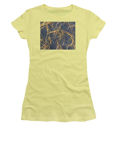 Women's T-Shirt (Junior Cut) featuring the photograph Pine Needles by R  Allen Swezey