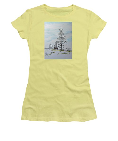 Pine Tree Gate Women's T-Shirt (Junior Cut) by Jack G  Brauer