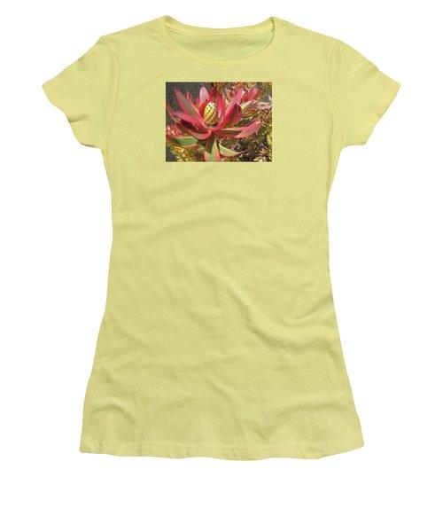 Pineapple King Flower Women's T-Shirt (Junior Cut) by Tina M Wenger