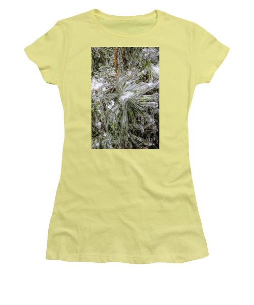 Women's T-Shirt (Junior Cut) featuring the photograph Pinecicles by Barbara Bowen