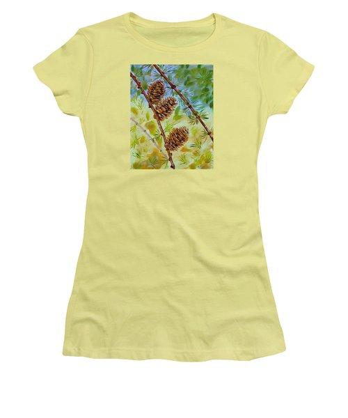 Pinecones  Women's T-Shirt (Junior Cut) by Mike Caitham