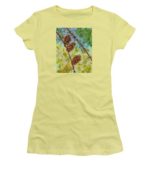 Pinecones  Women's T-Shirt (Athletic Fit)