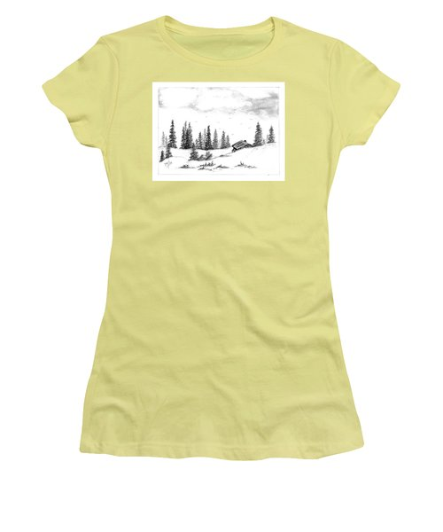 Pinetree Cabin Women's T-Shirt (Athletic Fit)