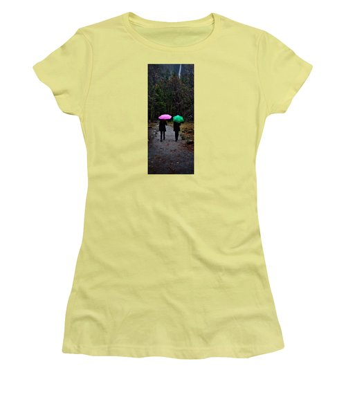 Pink And Green Women's T-Shirt (Athletic Fit)