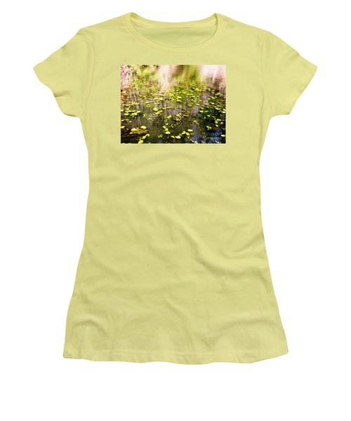 Women's T-Shirt (Junior Cut) featuring the photograph Pink And Green by Melissa Stoudt