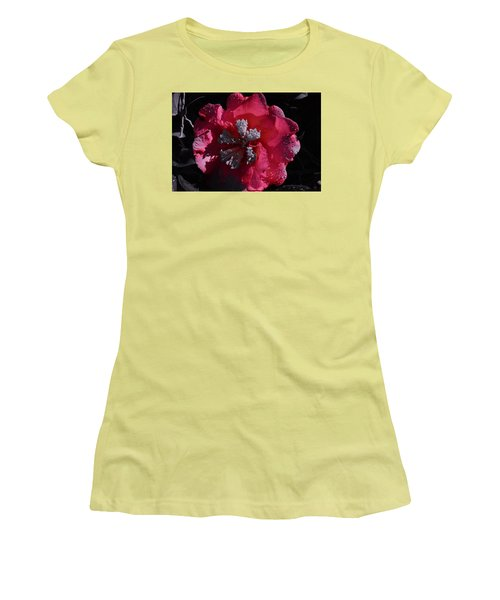 Pink Camillia And Selected Color Women's T-Shirt (Junior Cut) by Warren Thompson