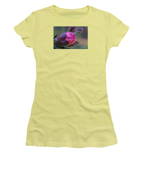 Pink Carnation Bud Close-up Women's T-Shirt (Athletic Fit)