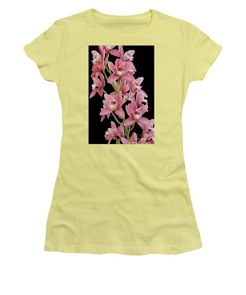 Pink Cymbidium Orchid Women's T-Shirt (Athletic Fit)