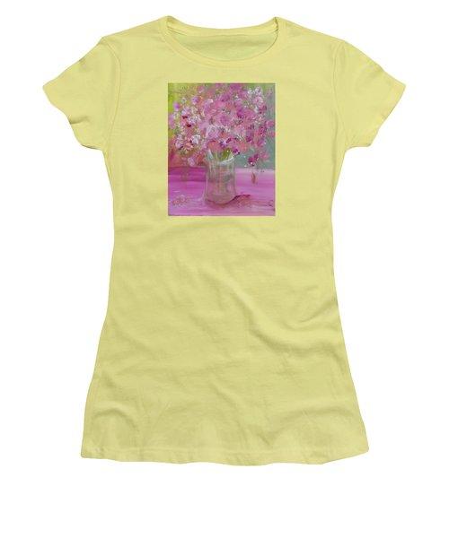 Pink Explosion Women's T-Shirt (Junior Cut) by Terri Einer