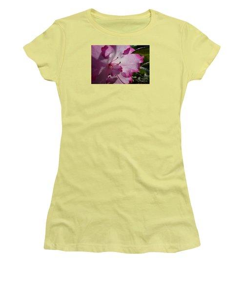 Pink Flowers 1 Women's T-Shirt (Junior Cut) by Jean Bernard Roussilhe