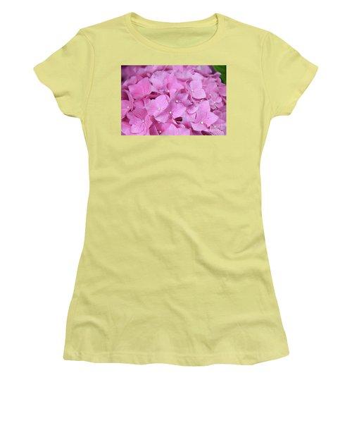 Pink Hydrangea Women's T-Shirt (Athletic Fit)