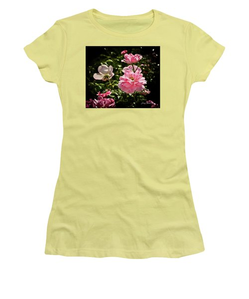 Women's T-Shirt (Junior Cut) featuring the photograph Pink Passion  by Joann Copeland-Paul