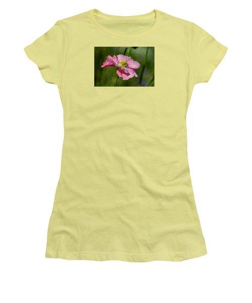 Pink Poppy Women's T-Shirt (Junior Cut) by Martina Fagan