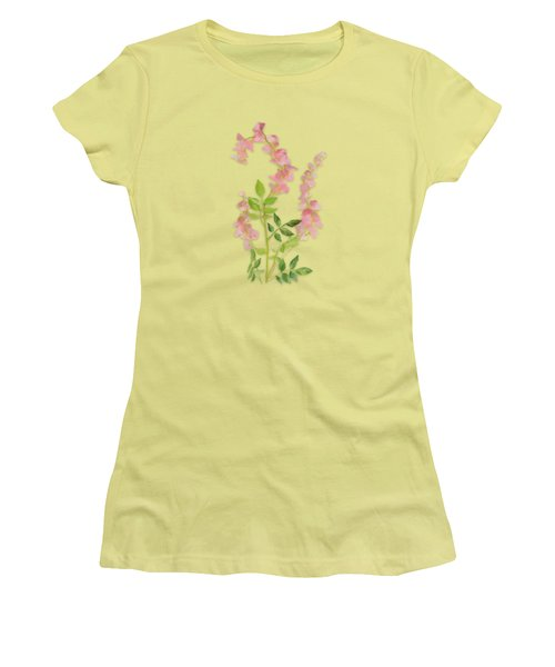 Pink Tiny Flowers Women's T-Shirt (Junior Cut) by Ivana Westin