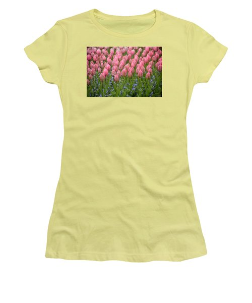 Pink Tulips Women's T-Shirt (Athletic Fit)