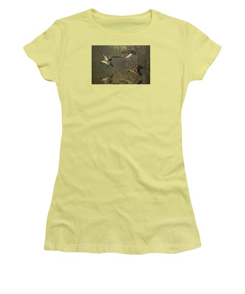 Pintail Ducks Women's T-Shirt (Junior Cut) by Brian Tarr