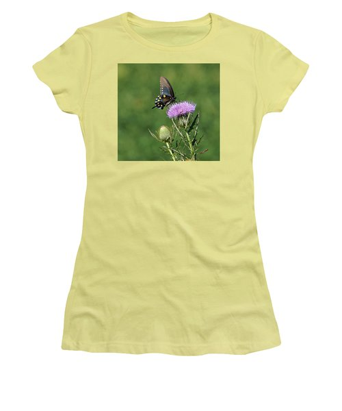 Women's T-Shirt (Junior Cut) featuring the photograph Pipevine Swallowtail by Sandy Keeton
