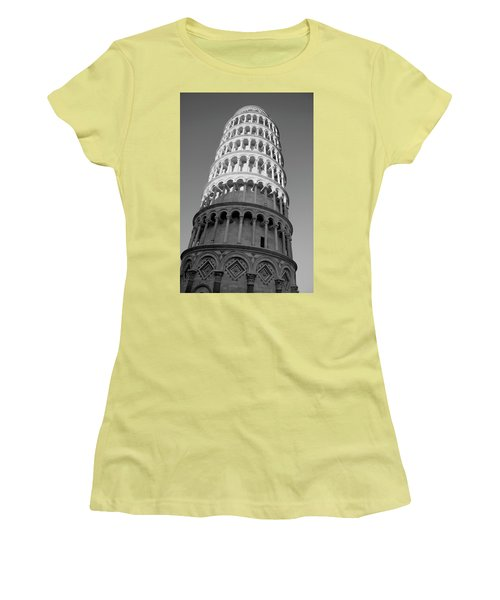 Pisa Tower Women's T-Shirt (Athletic Fit)