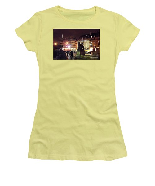 Women's T-Shirt (Junior Cut) featuring the photograph Place Saint-michel by Felipe Adan Lerma