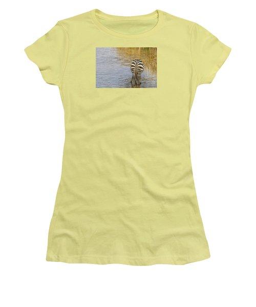 Plains Zebra Women's T-Shirt (Junior Cut) by Kathy Adams Clark