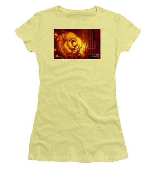 Play A Love Song Women's T-Shirt (Junior Cut) by Annie Zeno