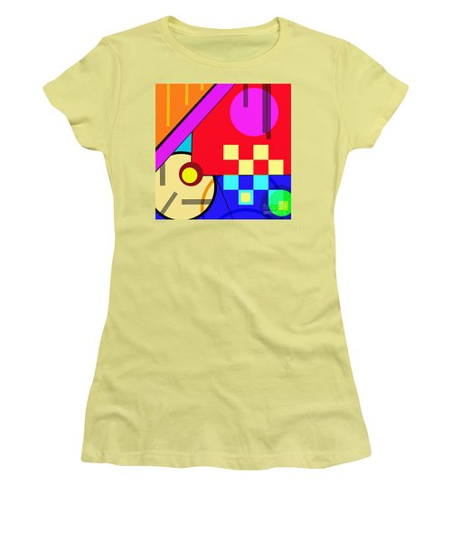 Women's T-Shirt (Athletic Fit) featuring the digital art Playful by Silvia Ganora