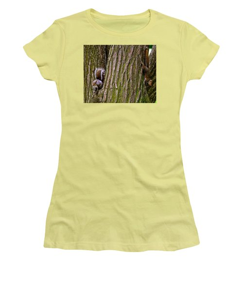 Playful Squirrels  Women's T-Shirt (Athletic Fit)