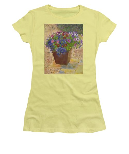Pleasure Pot Women's T-Shirt (Junior Cut) by Richard James Digance
