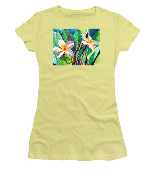 Plumeria Garden Women's T-Shirt (Athletic Fit)