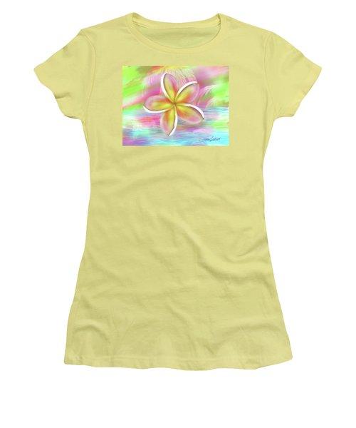 Plumeria Paradise Women's T-Shirt (Junior Cut) by Dani Abbott