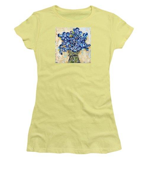 Pocket Full Of Posies Women's T-Shirt (Junior Cut) by Kirsten Reed
