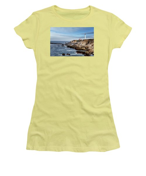 Point Arena Light Women's T-Shirt (Junior Cut) by Lana Trussell
